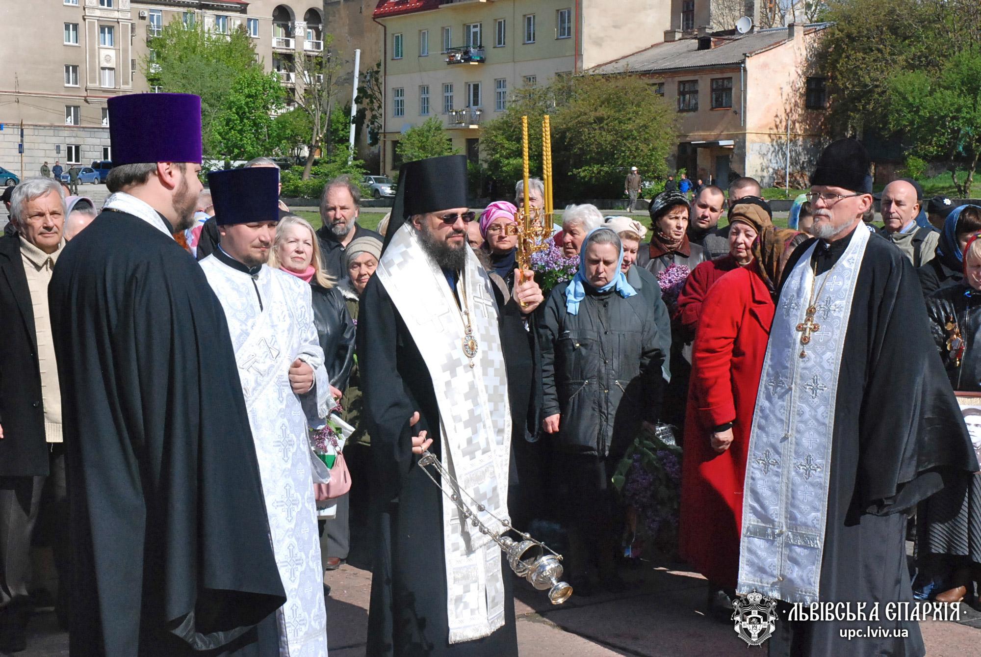 У День Перемоги керуючий Львівською єпархієюочолив молитву за загиблими у Другій Світовій війні